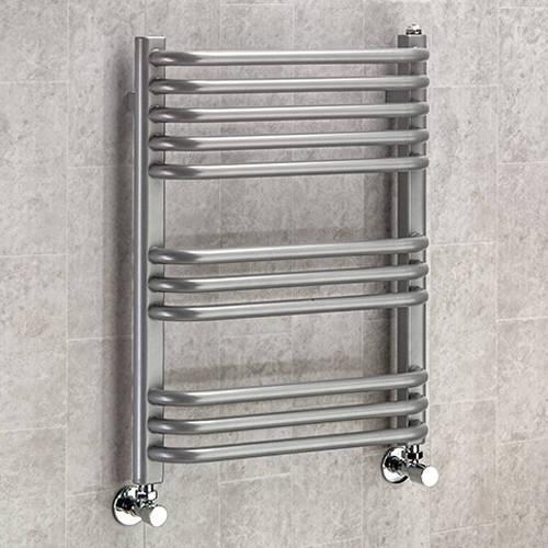 Additional image for Heated Towel Rail & Wall Brackets 620x500 (Grey Aluminium).