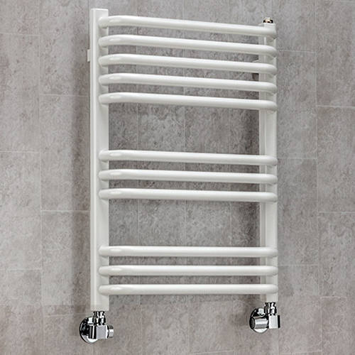 Additional image for Heated Towel Rail & Wall Brackets 620x600 (White).