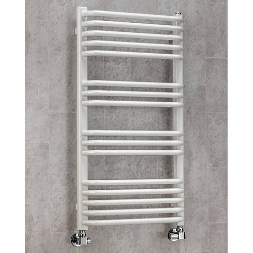 Additional image for Heated Towel Rail & Wall Brackets 900x500 (White).