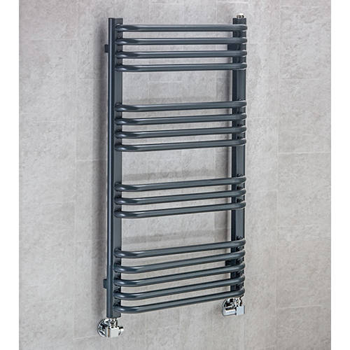 Additional image for Heated Towel Rail & Wall Brackets 900x500 (Anthracite Grey).