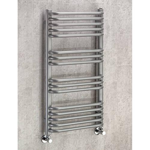 Additional image for Heated Towel Rail & Wall Brackets 900x500 (Grey Aluminium).
