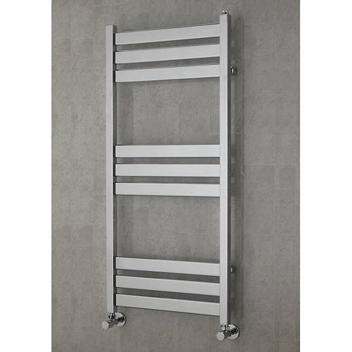 Additional image for Heated Towel Rail & Wall Brackets 1080x500 (Chrome).