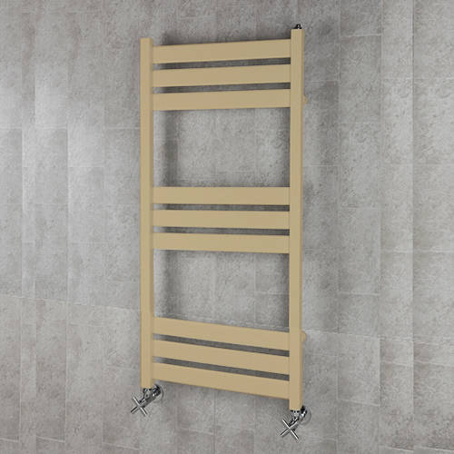 Additional image for Heated Towel Rail & Wall Brackets 1080x500 (Beige).