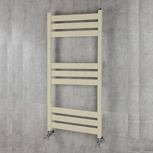 Additional image for Heated Towel Rail & Wall Brackets 1080x500 (Light Ivory).