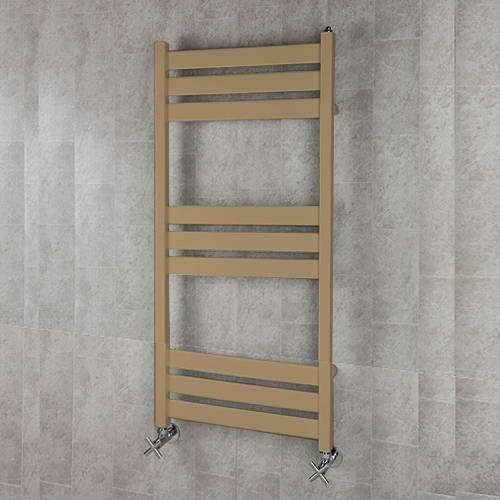 Additional image for Heated Towel Rail & Wall Brackets 1080x500 (Grey Beige).