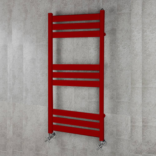 Additional image for Heated Towel Rail & Wall Brackets 1080x500 (Ruby Red).