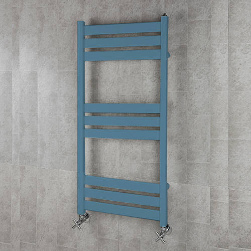 Additional image for Heated Towel Rail & Wall Brackets 1080x500 (Pastel Blue).