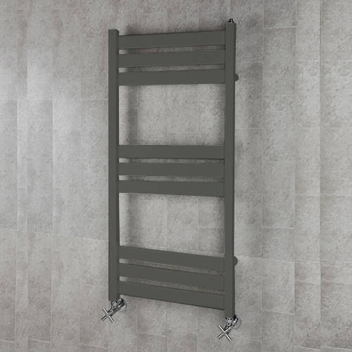 Additional image for Heated Towel Rail & Wall Brackets 1080x500 (Grey Olive).