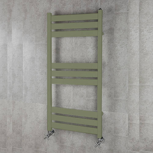 Additional image for Heated Towel Rail & Wall Brackets 1080x500 (Reed Green).