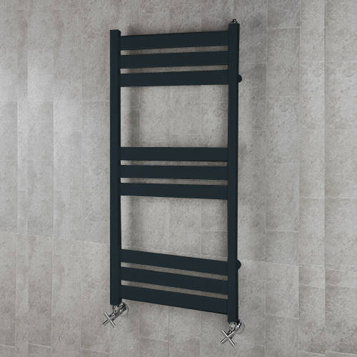 Additional image for Heated Towel Rail & Wall Brackets 1080x500 (Anthracite Grey).