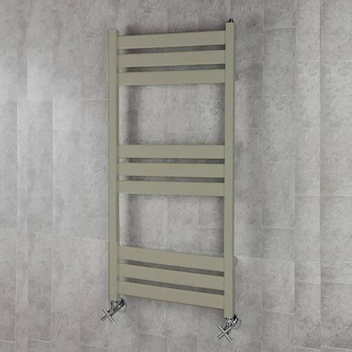Additional image for Heated Towel Rail & Wall Brackets 1080x500 (Pebble Grey).