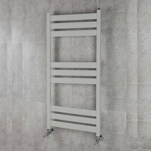Additional image for Heated Towel Rail & Wall Brackets 1080x500 (Light Grey).