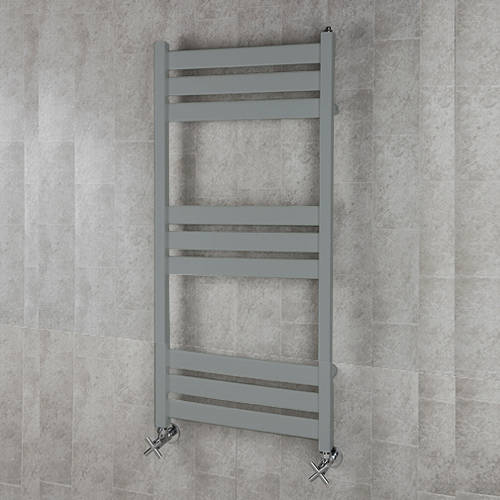 Additional image for Heated Towel Rail & Wall Brackets 1080x500 (Window Grey).