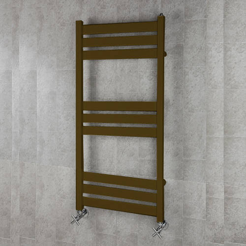Additional image for Heated Towel Rail & Wall Brackets 1080x500 (Nut Brown).