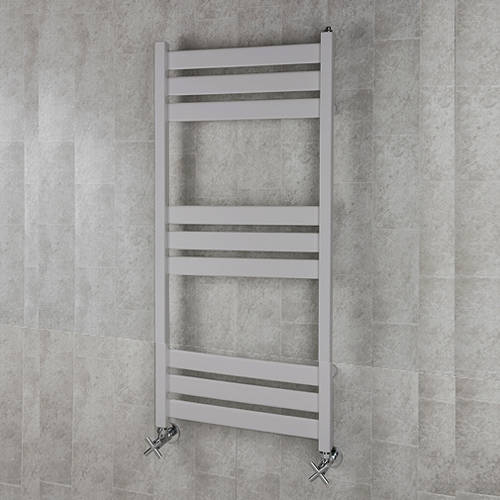 Additional image for Heated Towel Rail & Wall Brackets 1080x500 (White Alumin).