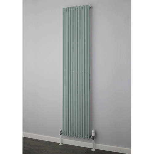 Additional image for Chaucer Single Vertical Radiator 1820x300mm (Traffic Grey).