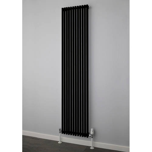Additional image for Chaucer Single Vertical Radiator 1820x300mm (Jet Black).