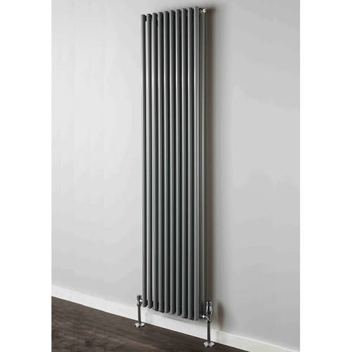 Additional image for Chaucer Double Vertical Radiator 1820x300mm (Traffic Grey).