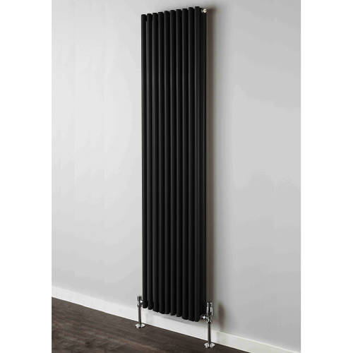 Additional image for Chaucer Double Vertical Radiator 1820x606mm (Jet Black).
