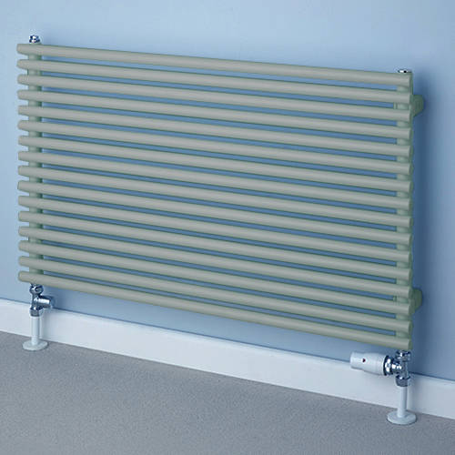 Additional image for Chaucer Single Horizontal Radiator 402x1220mm (Traffic Grey).
