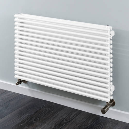 Additional image for Chaucer Double Horizontal Radiator 538x1220mm (White).
