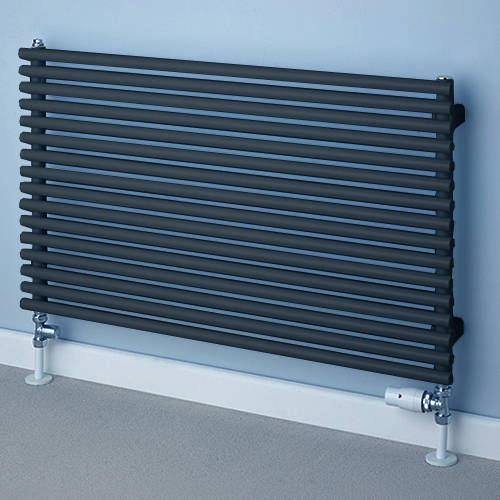 Additional image for Chaucer Single Horizontal Radiator 538x1520mm (Jet Black).