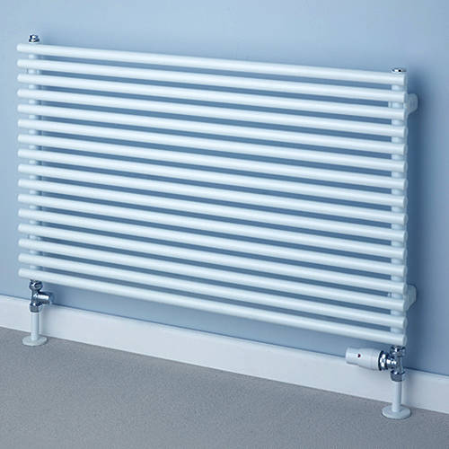 Additional image for Chaucer Single Horizontal Radiator 538x920mm (White).