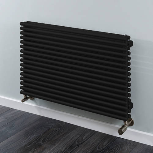 Additional image for Chaucer Double Horizontal Radiator 538x920mm (Jet Black).