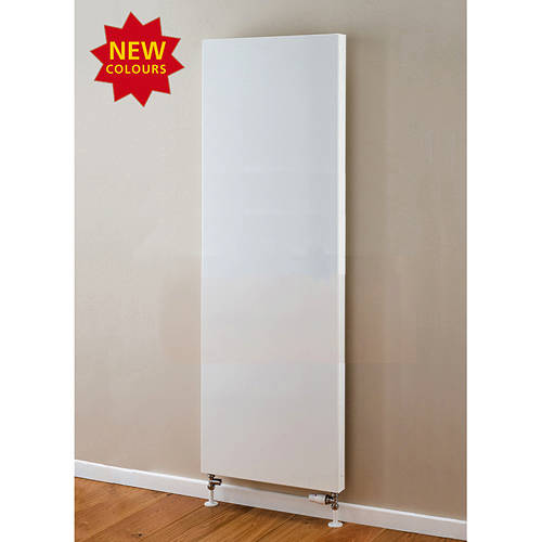 Additional image for Faraday Vertical Radiator 1600x500mm (P+, White, 5684 BTUs).