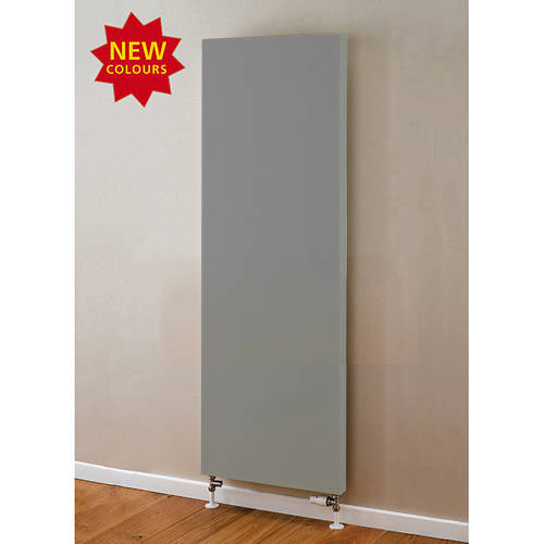 Additional image for Faraday Vertical Radiator 1600x500mm (P+, Window Grey, 5684 BTUs).