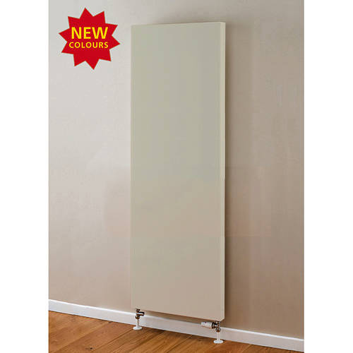 Additional image for Faraday Vertical Radiator 1600x500mm (P+, Silk Grey, 5684 BTUs).