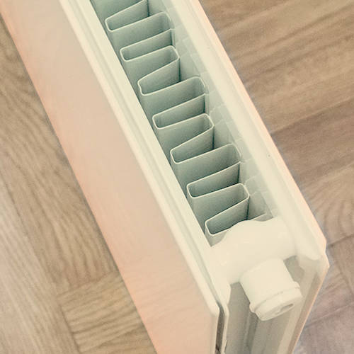 Additional image for Faraday Vertical Radiator 1800x500mm (P+, Light Ivory, 6398 BTUs).