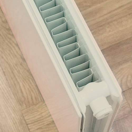 Additional image for Faraday Vertical Radiator 1800x500mm (P+, Silk Grey, 6398 BTUs).