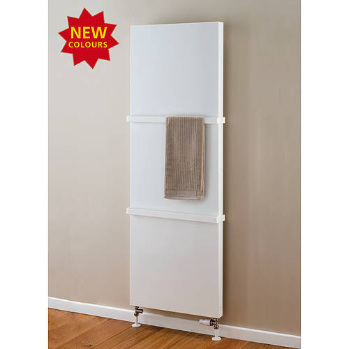 Additional image for Faraday Vertical Radiator With Towel Rails 1800x600mm (P+, White).