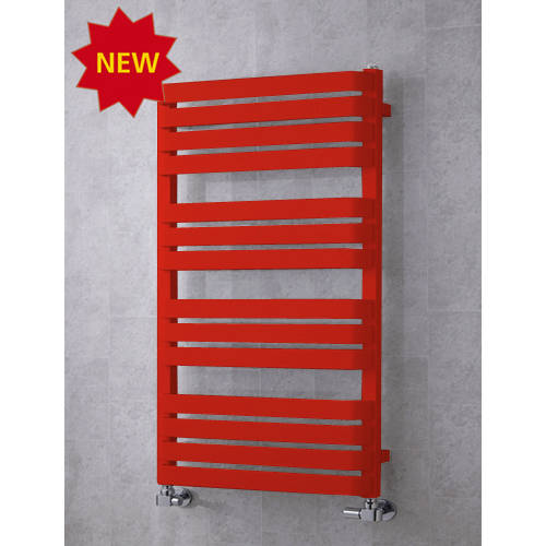 Additional image for Heated Towel Rail & Wall Brackets 1110x500 (Flame Red).