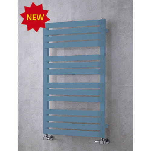 Additional image for Heated Towel Rail & Wall Brackets 1110x500 (Pastel Blue).