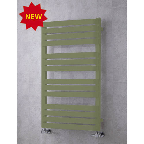 Additional image for Heated Towel Rail & Wall Brackets 1110x500 (Reed Green).