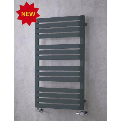 Additional image for Heated Towel Rail & Wall Brackets 1110x500 (Anthracite Grey).