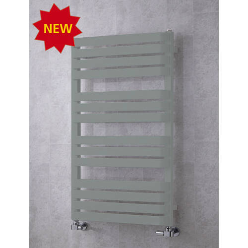 Additional image for Heated Towel Rail & Wall Brackets 1110x500 (Traffic Grey A).