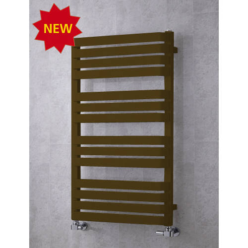 Additional image for Heated Towel Rail & Wall Brackets 1110x500 (Nut Brown).
