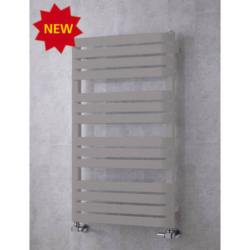 Additional image for Heated Towel Rail & Wall Brackets 1110x500 (White Alumin).