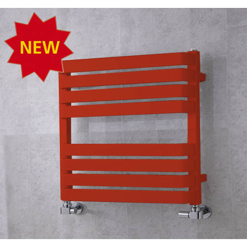 Additional image for Heated Towel Rail & Wall Brackets 655x500 (Flame Red).