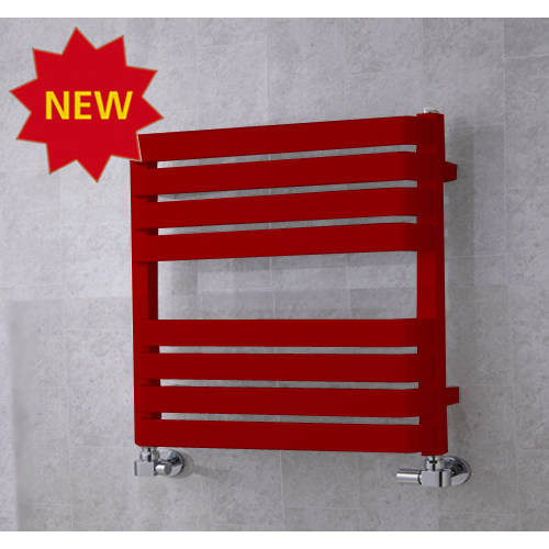 Additional image for Heated Towel Rail & Wall Brackets 655x500 (Ruby Red).