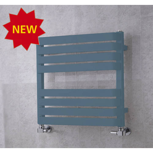 Additional image for Heated Towel Rail & Wall Brackets 655x500 (Pastel Blue).