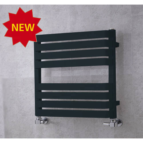 Additional image for Heated Towel Rail & Wall Brackets 655x500 (Anthracite Grey).