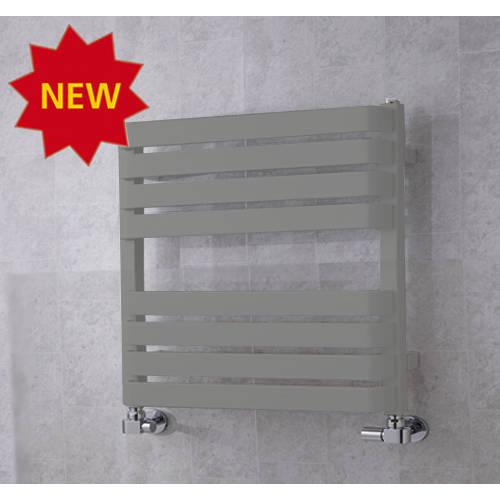Additional image for Heated Towel Rail & Wall Brackets 655x500 (Traffic Grey A).