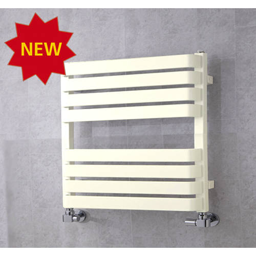 Additional image for Heated Towel Rail & Wall Brackets 655x500 (Cream).