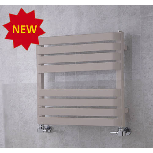Additional image for Heated Towel Rail & Wall Brackets 655x500 (White Aluminium).
