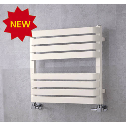 Additional image for Heated Towel Rail & Wall Brackets 655x500 (Pure White).