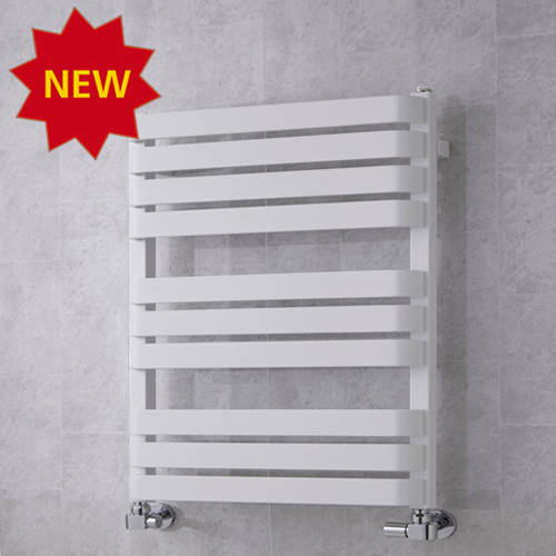 Additional image for Heated Towel Rail & Wall Brackets 785x500 (White).